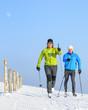 Zwei Skiwanderer