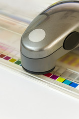 Spectrophotometer device unit control - offset print