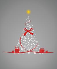 Weihnachtsbaum Schleife Sterne