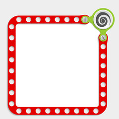 red frame for any text with screws and spiral