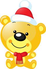 christmas character - cute vector bear