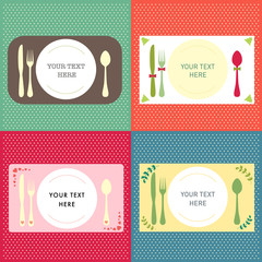 Invitation card template background dinner concept
