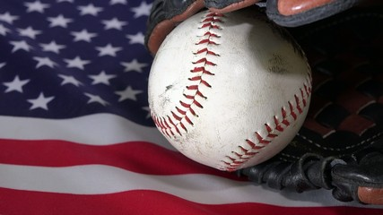 US flag and a baseball concept