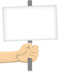 Hand Holding Blank Board