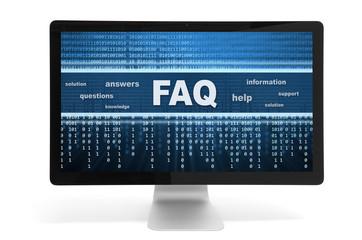 faq on a screen