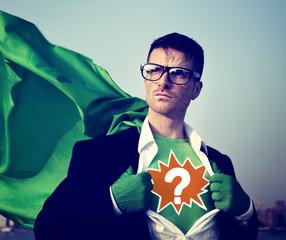 Question Mark Strong Superhero Success Professional Empowerment