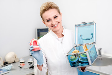 Portrait of woman dentist