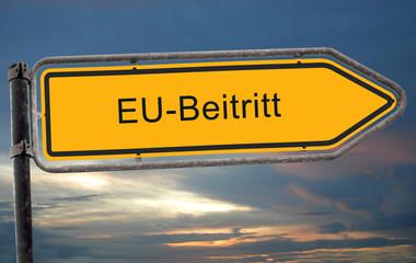 Strassenschild 19 - EU-Beitritt