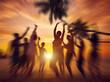 Dancing Party Enjoyment Happiness Celebration Beach Concept