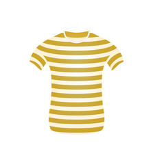 Striped t-shirt in brown and white design