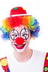clown schielt mit den augen