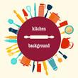Pattern of Kitchen utensil kitchen-background - 74132338