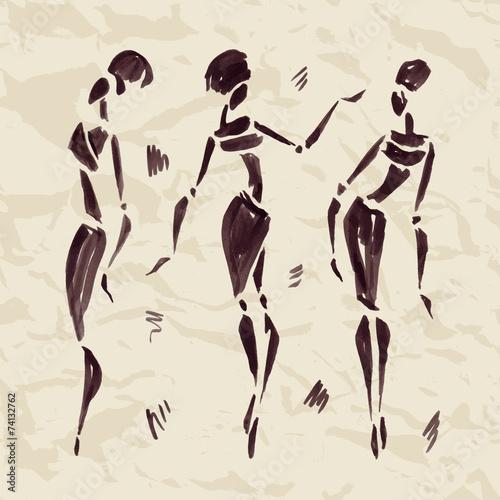 figury-afrykanskich-tancerzy-recznie-rysowane-ilustracji