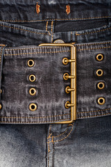 Closeup shot of jeans front