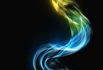 great smoke with hot top waves abstract background wallpaper