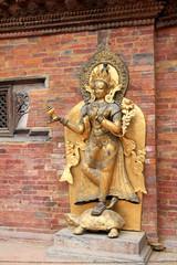 Statue of the river goddess Ganga on a tortoise