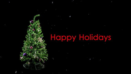 Stop Motion Christmas Tree Loop with Snowflakes