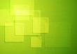 Bright green technical squares background