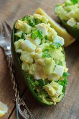 egg appetizer avocado in half