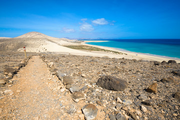 GR 131, long-distance footpath in Fuerteventura (Spain)
