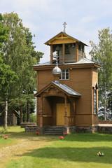 Holzkirche in Estland