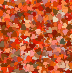 many red small hearts backgrounds