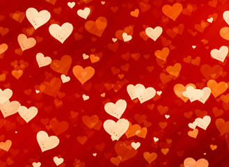 many red small speckle hearts backgrounds