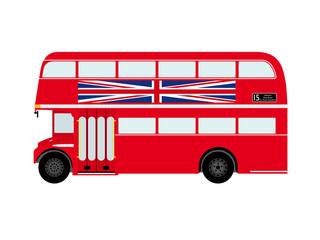 Red London Doubledecker Bus Vector