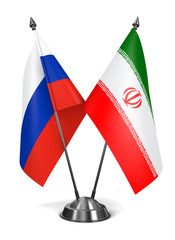 Iran and Russia - Miniature Flags.