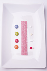 Pills and candies