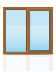 brown plastic transparent window view indoors vector illustratio