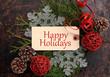 Leinwanddruck Bild - Christmas concept. Happy Holidays.