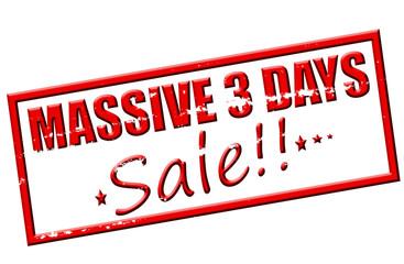 Massive three days sale