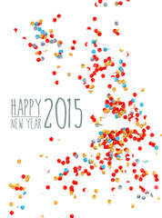 Happy new year 2015 confetti background
