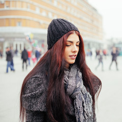 Young Woman At Winter