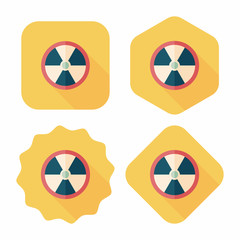 Radiation flat icon with long shadow,eps10