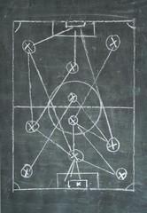 soccer or football tactics diagram, free copy space