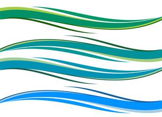 onde graduali blu verde