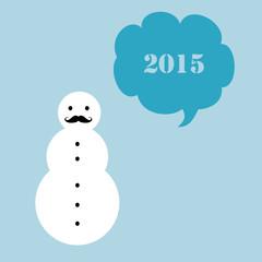 Hipster snowman