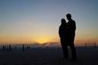 canvas print picture - Junges Paar am Strand von Miami