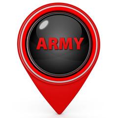 Army pointer icon on white background