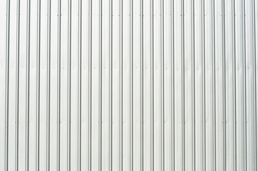 Galvanized iron wall of factory