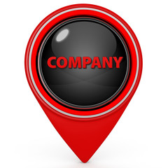 Company pointer icon on white background