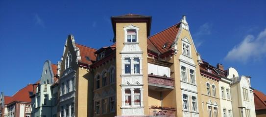 Häuserfassaden in Erfurt