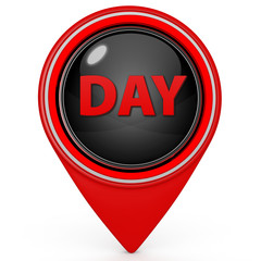 Day pointer icon on white background