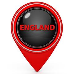 England pointer icon on white background