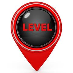 Level pointer icon on white background