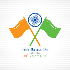 Republic Day greeting with indian flag stock vector
