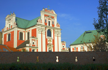 Baroque parish church in Poznan.