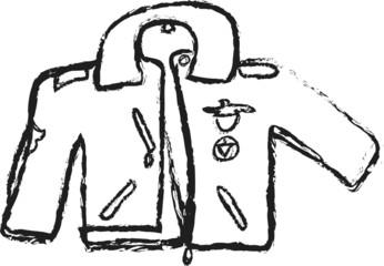 cartoon  illustration leather jacket